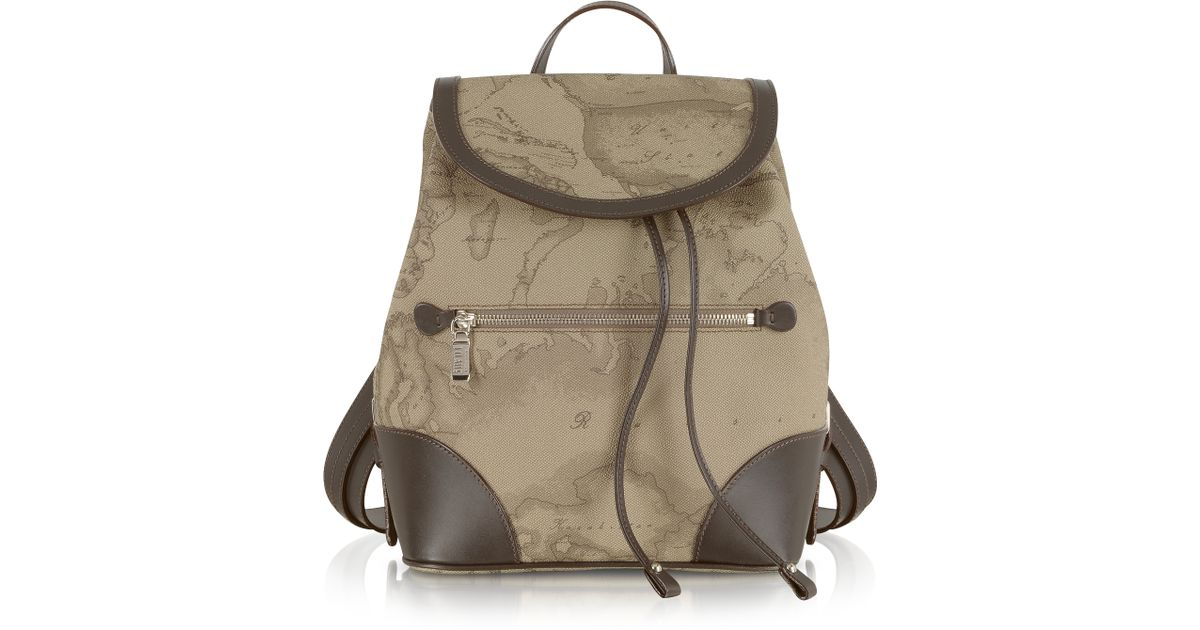 Lyst - Alviero Martini 1A Classe 1a Prima Classe - Geo Printed Neo Casual  Backpack in Natural 9510620ad362