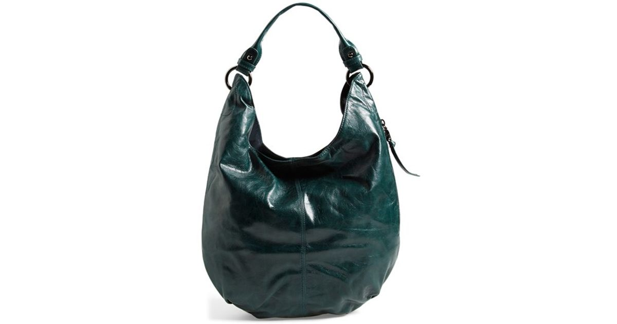 Hobo 'Gardner' Leather Shoulder Bag in Green | Lyst