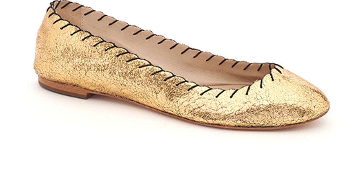 6d12ae81b51 Lyst - Loeffler Randall Karlotta Ballet Flat in Metallic