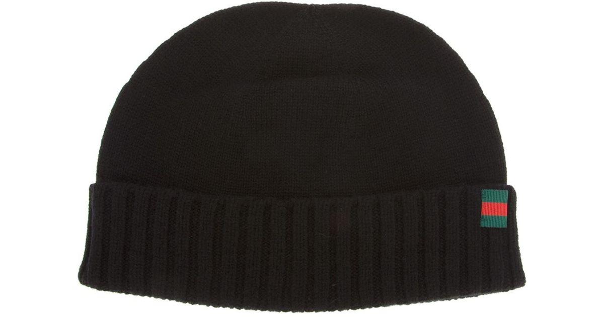 Lyst - Gucci Beanie Hat in Black for Men 805af77d841
