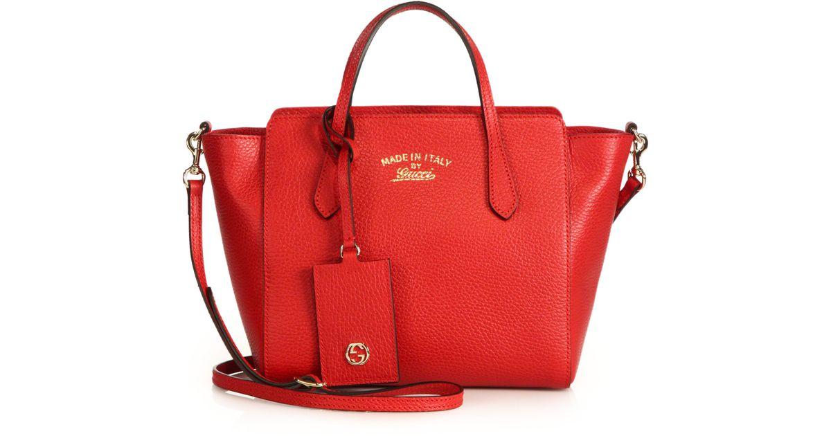 c2b76ed185cf Lyst - Gucci Swing Small Crossbody Bag in Red
