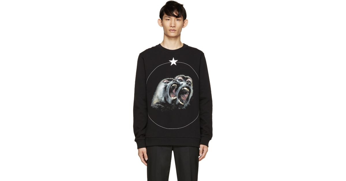 ad2640b1 Givenchy Black Monkey Brothers Sweatshirt in Black for Men - Lyst