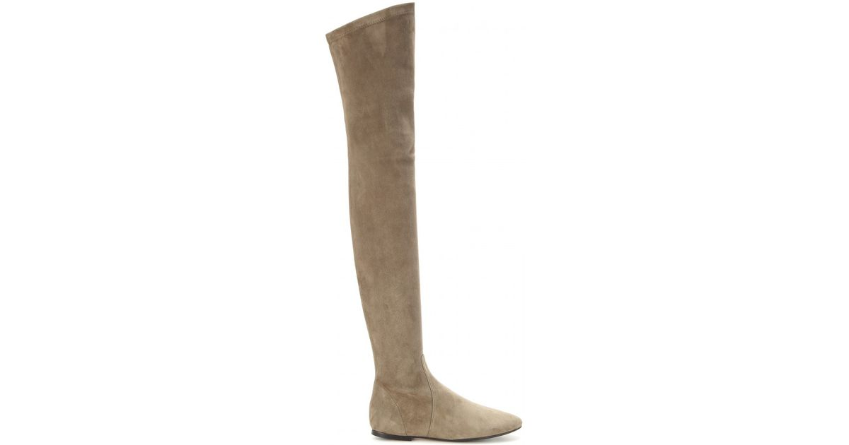 15e397e0168 Isabel Marant Brenna Suede Over-the-knee Boots in Natural - Lyst