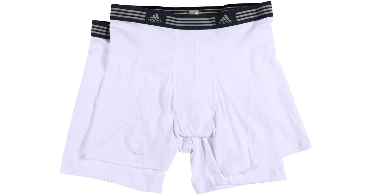 0b5b786205f2 Lyst - adidas Athletic Stretch 2-Pack Boxer Brief in White for Men