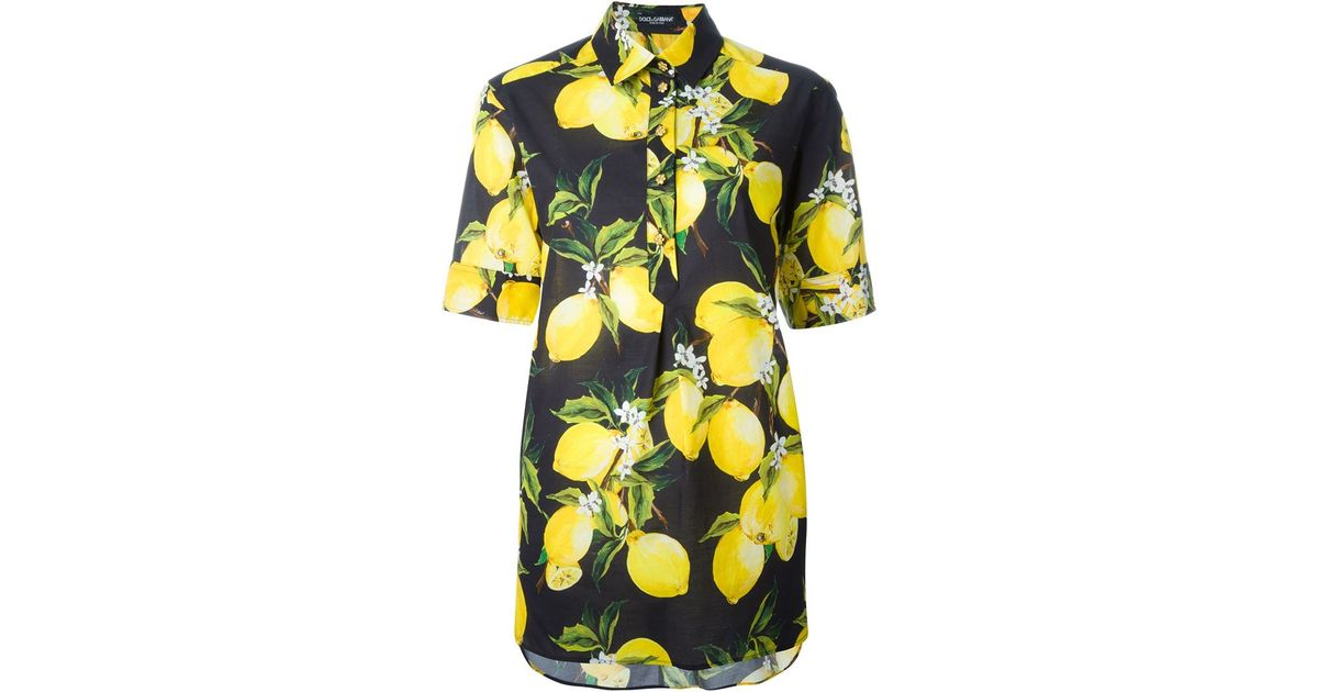 Lyst - Dolce   Gabbana Lemon Print Shirt in Black bbdb90278a9a1
