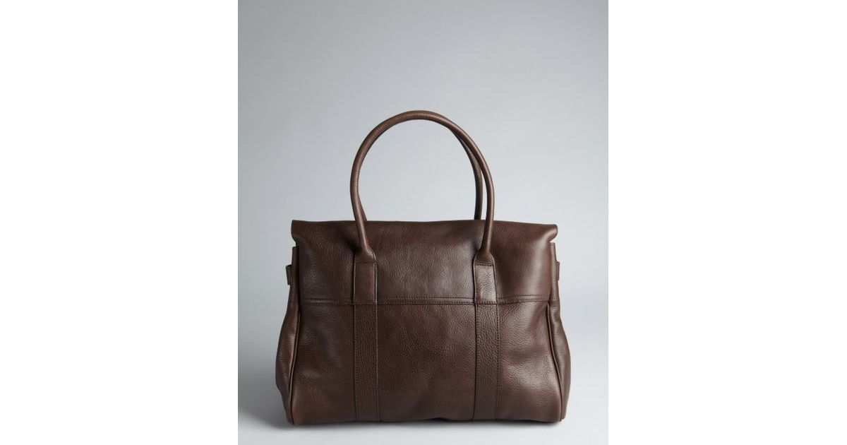 fd9485f054 ... aliexpress lyst mulberry chocolate leather bayswater top handle bag in  brown 98f31 687b1 ...