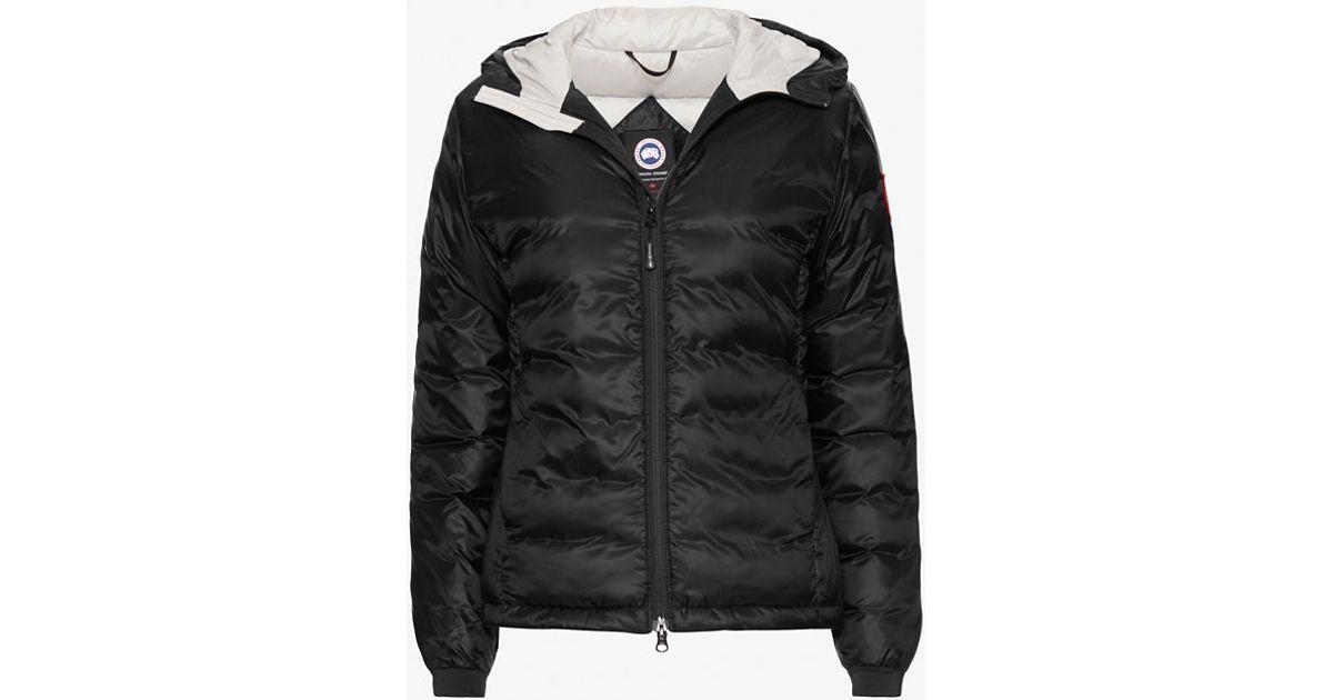Canada Goose sale - Canada goose Camp Short Hooded Jacket: Black in Black | Lyst
