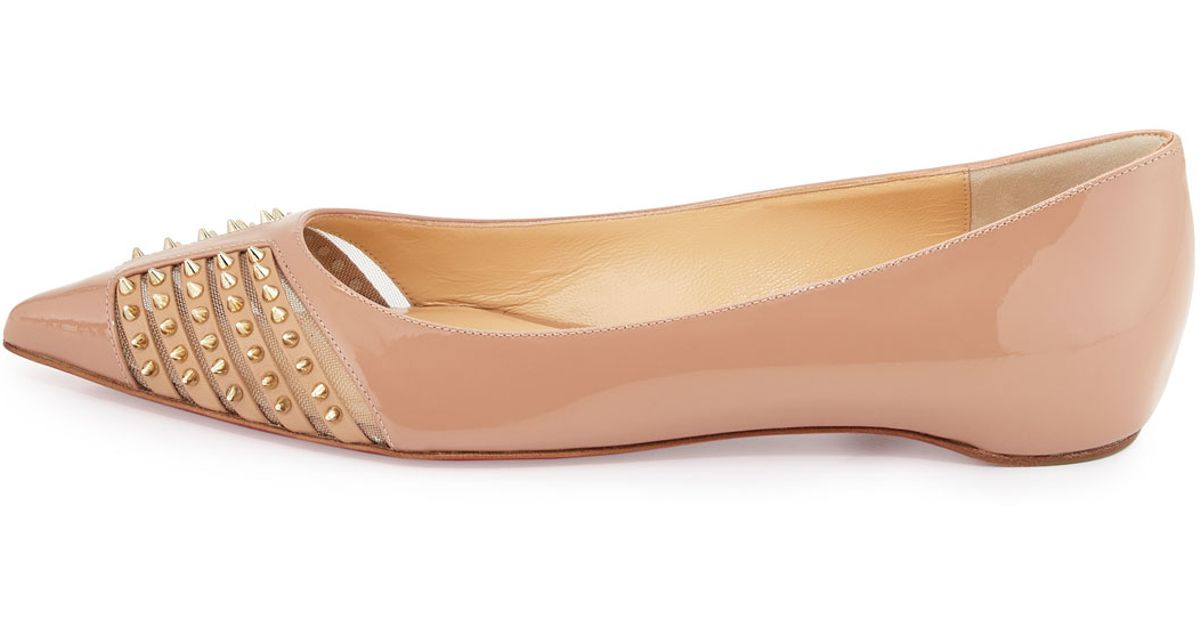 christian louboutin men's shoes - christian louboutin baretta studded low-heel red sole pump ...