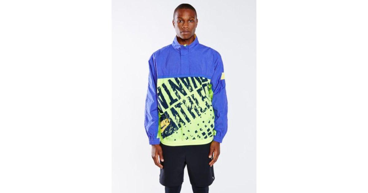 b70ce5859 Lyst - Urban Outfitters Vintage Neon Nike Windbreaker in Blue for Men