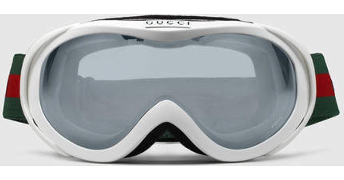 9eea7e7fcd4 Very Lyst - Gucci White Ski Goggles in White for Men EA32
