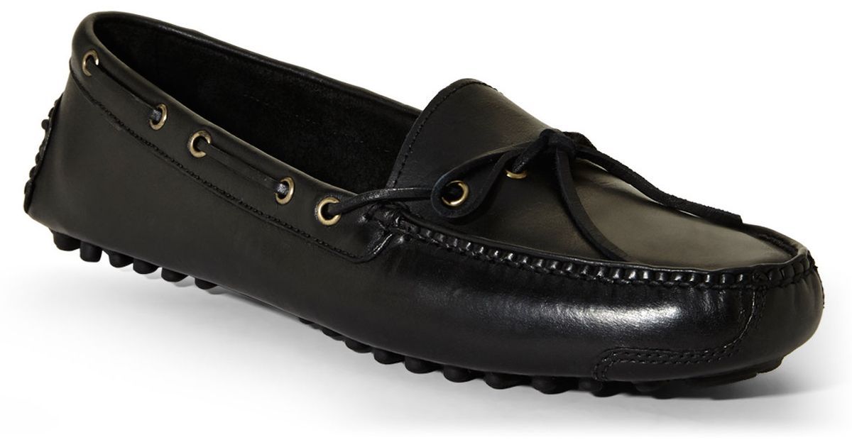 5855f632945 Lyst - Cole Haan Black Gunnison Ii Driver Moccasins in Black for Men