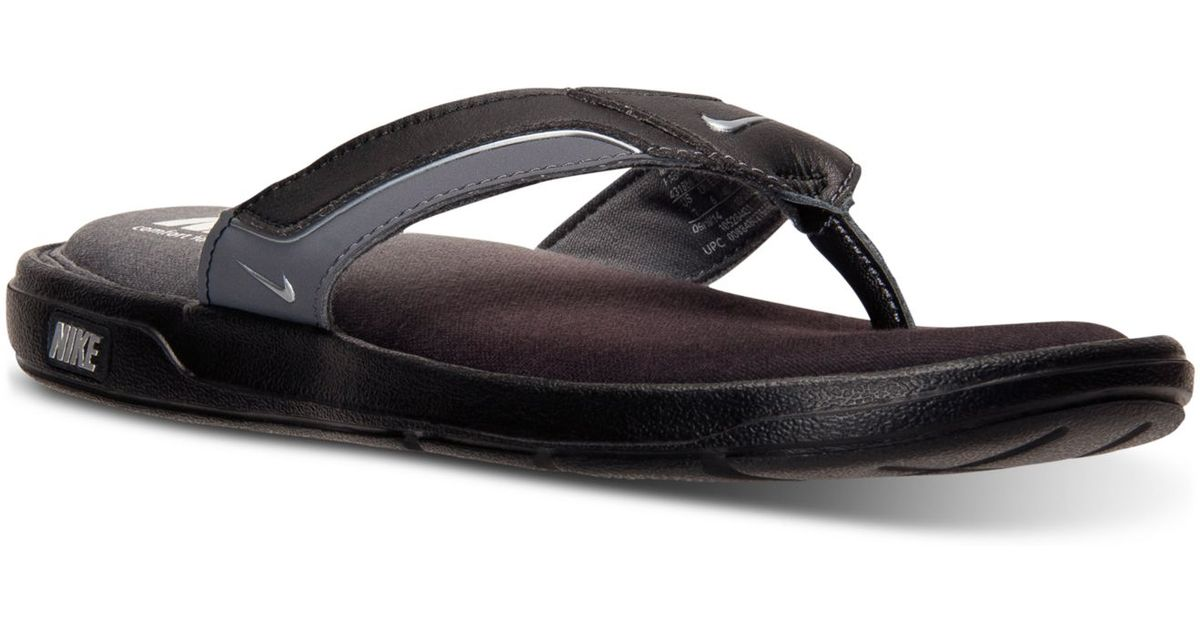aeb1ada98 ... denmark lyst nike mens solarsoft comfort thong sandals from finish line  in black for men fe42f