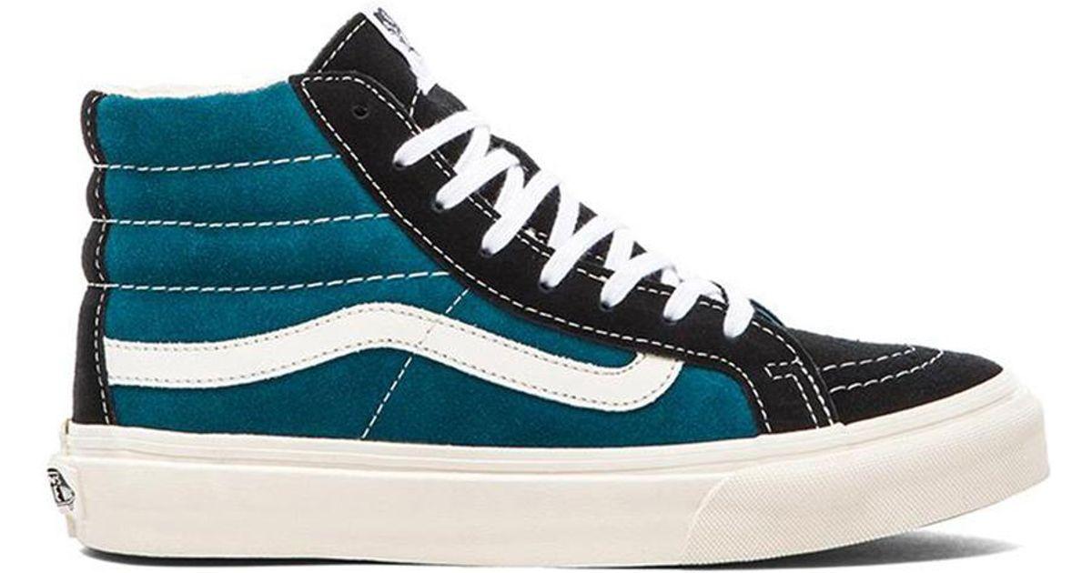 77b0f48d184c8 Lyst - Vans Sk8-Hi Slim Sneaker in Blue