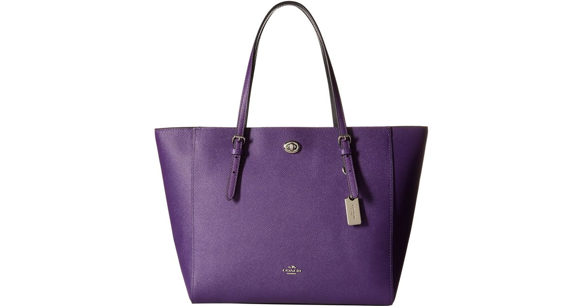 new zealand coach tote bag for women black 36932 a22f3 2371a  reduced lyst  coach bicolor crossgrain leather turnlock tote in purple a4c17 baeea 1890adb96fdde