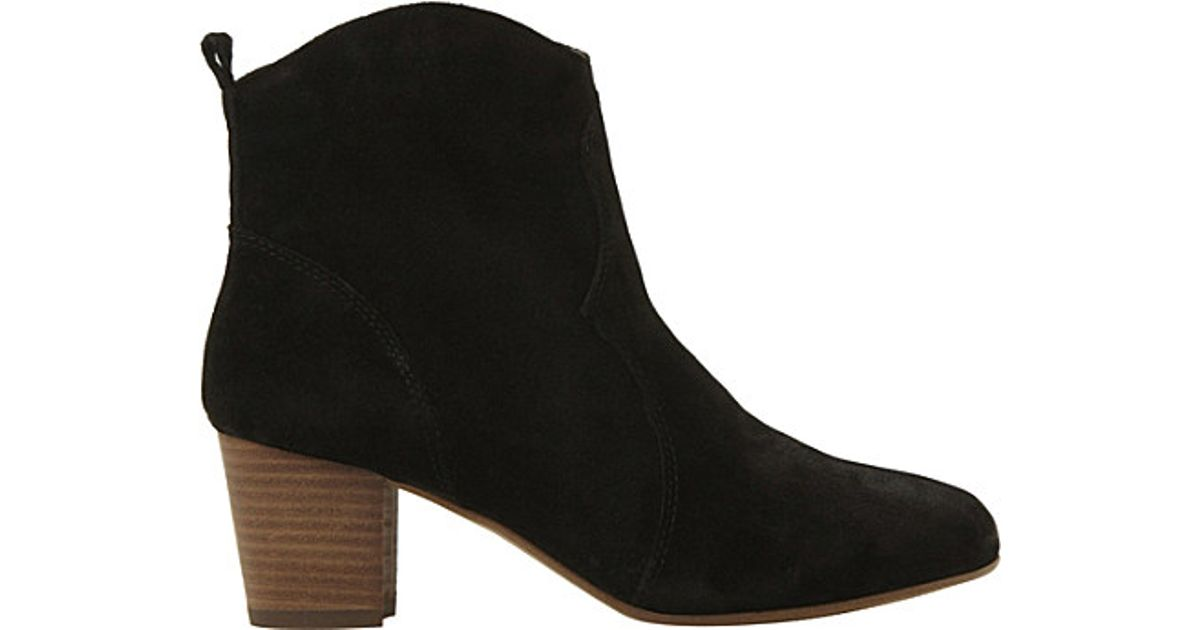 2866847b073 Lyst - Steve Madden Western Suede Ankle Boots in Black