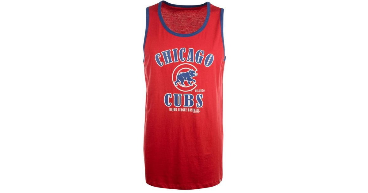 Lyst - 47 Brand Men s Chicago Cubs Till-dawn Tank in Red for Men 0768e00ca60f