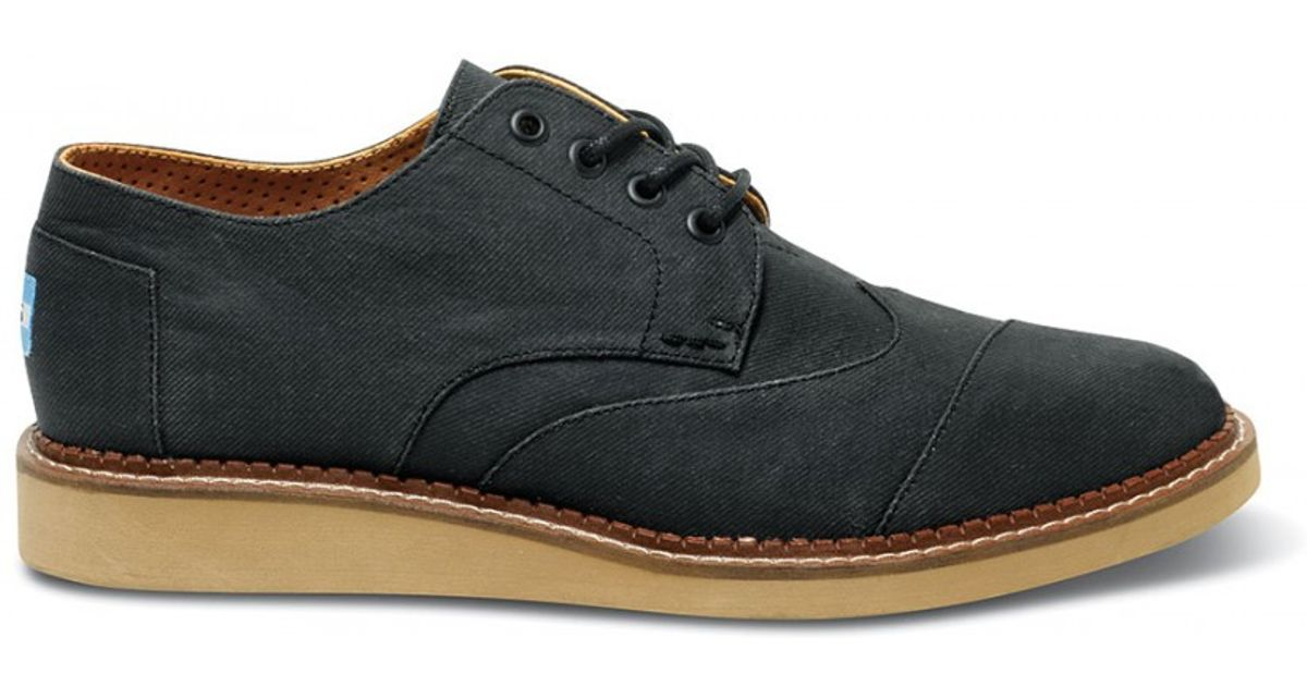 e8ce124ff1b Lyst - TOMS Ash Aviator Twill Mens Brogues in Gray for Men