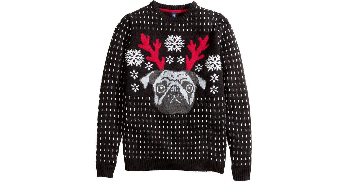 675c0f8a9c22 H&M Christmas Jumper in Black for Men - Lyst