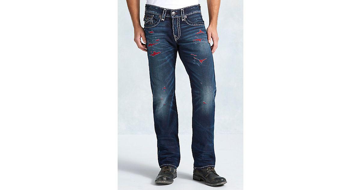 6f07b94d Lyst - True Religion Ricky Straight Super T Mens Jean in Blue for Men
