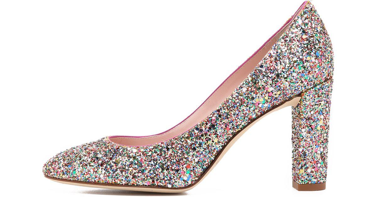 bd45e1ded620 Lyst - Kate Spade Dani Too Glitter Pumps