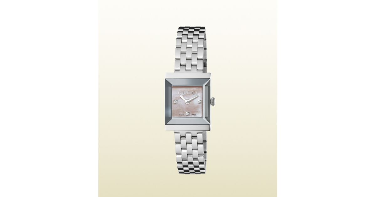 dd1fa604f64 Lyst - Gucci G-frame Stainless Steel Watch in Gray for Men
