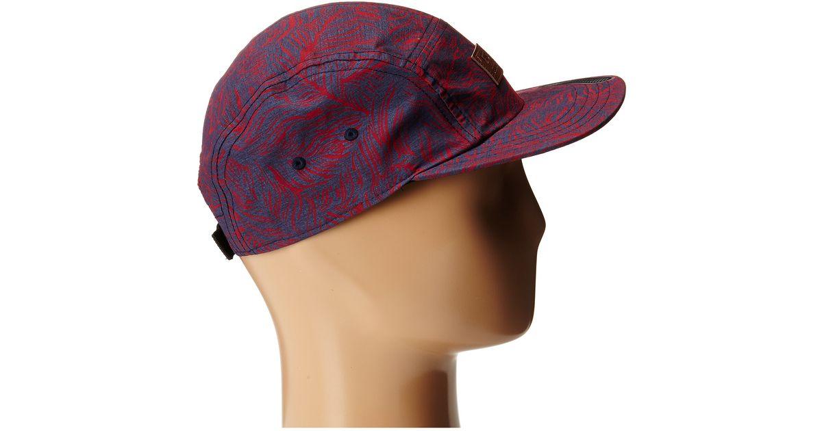 Lyst - Vans Davis 5 Panel Camper Hat in Red for Men 2aa2f5a1764