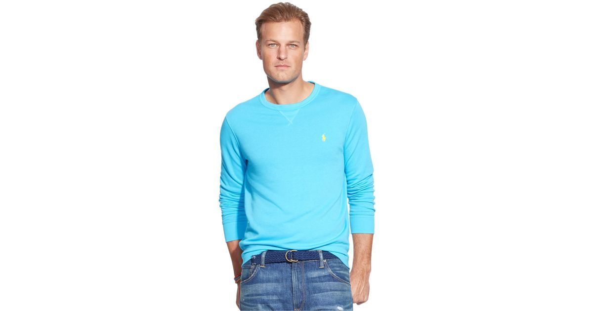 Polo ralph lauren big and tall terry long sleeve shirt in for Big and tall long sleeve shirts