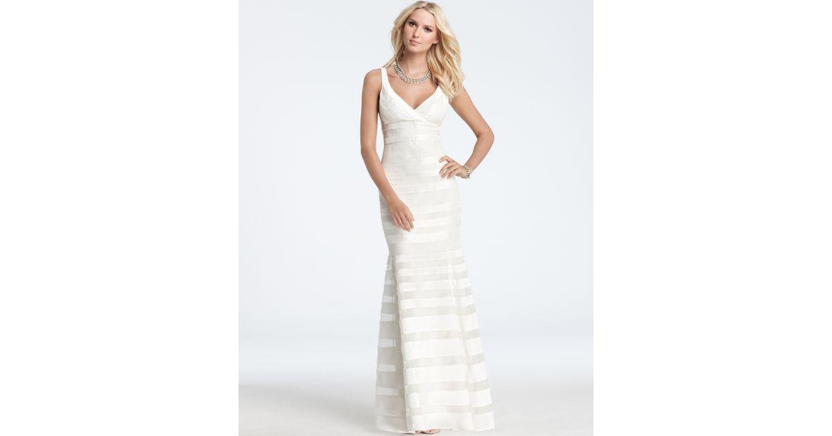 Lyst - Ann taylor Silk Georgette Mermaid Wedding Dress in White