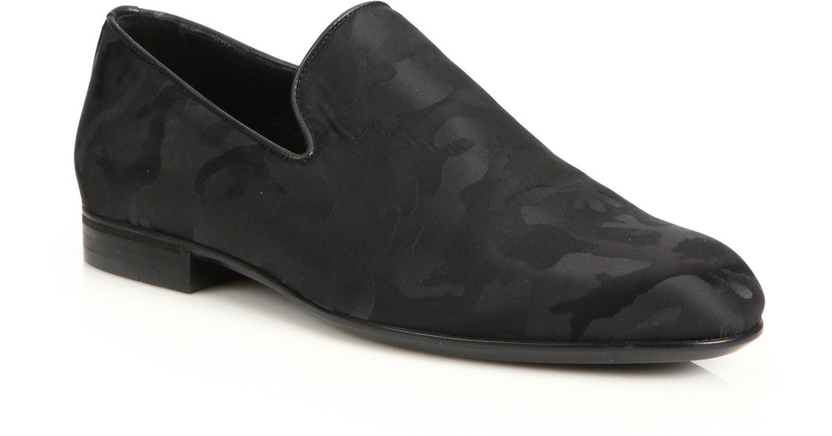Jimmy choo camo formal slippers in black for men lyst for Jimmy choo mens shirts