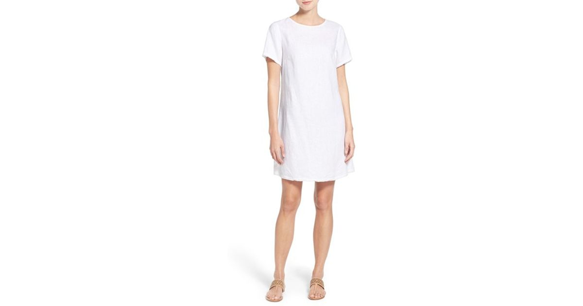 Tommy Bahama Two Palms Linen Shift Dress In White Lyst