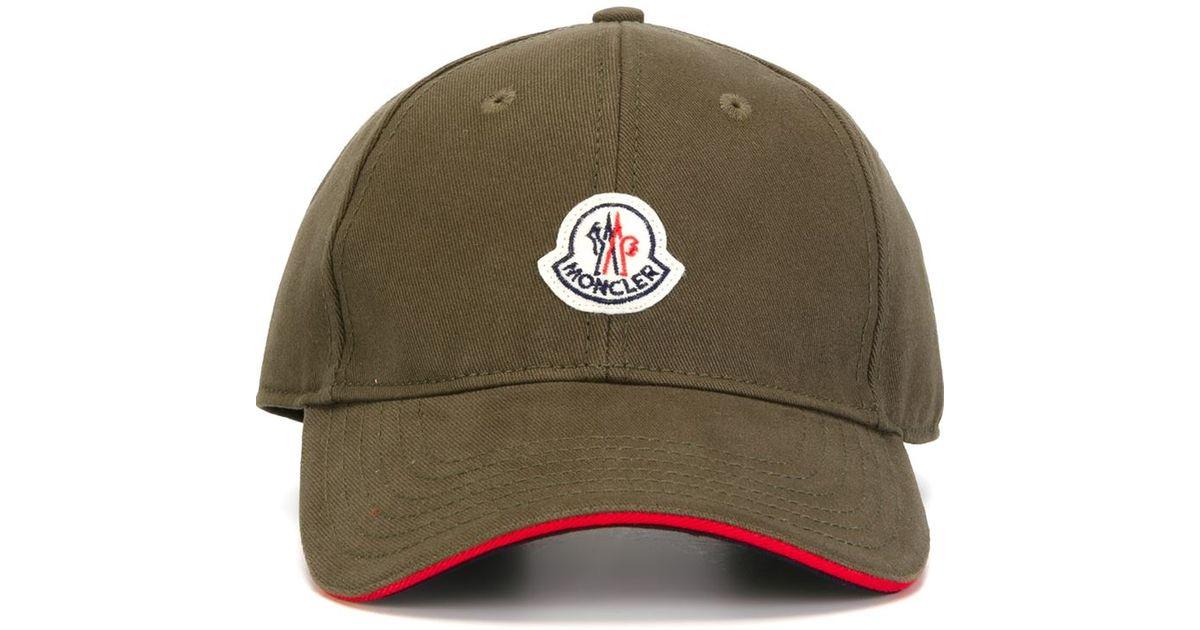 2cbaf10e044 Moncler Classic Baseball Cap in Natural for Men - Lyst
