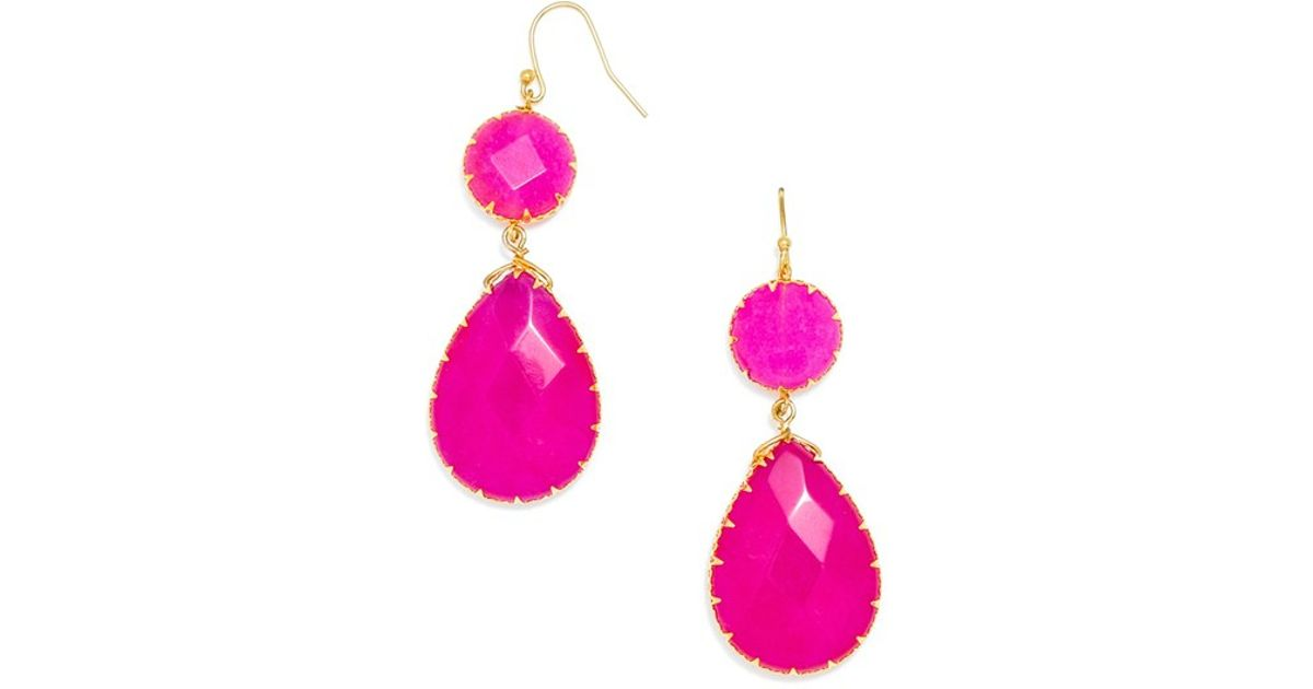 normal in pink new kate lyst crystal product earrings drop fuschia york jewelry spade