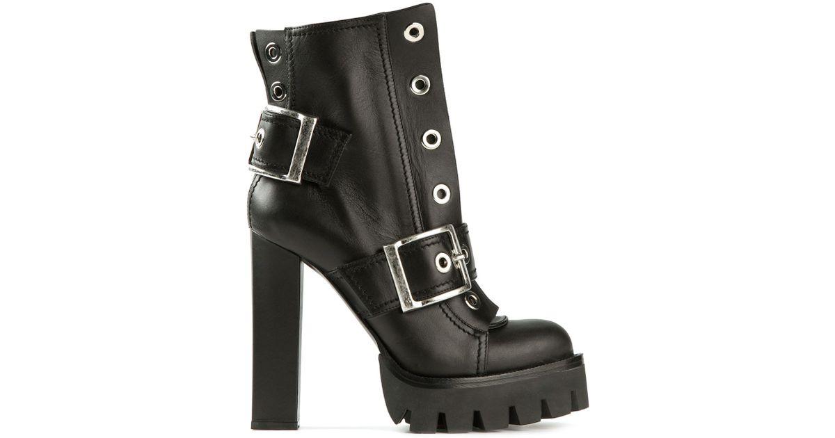 chunky heel boots - Black Alexander McQueen lzLGwq8X