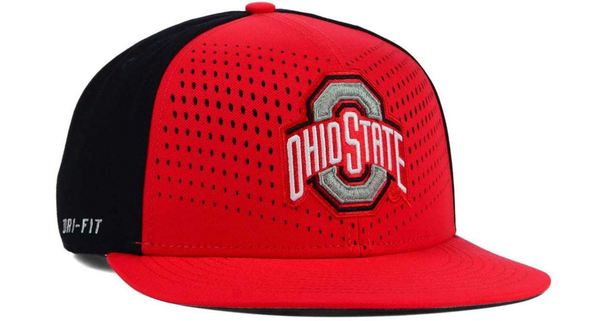 new product e158d 9973e Lyst - Nike Ohio State Buckeyes True Seasonal Snapback Cap in Red for Men