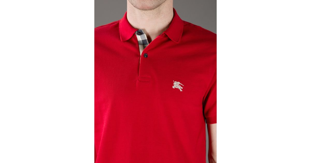 a41fe5024 Burberry Brit Classic Polo Shirt in Red for Men - Lyst