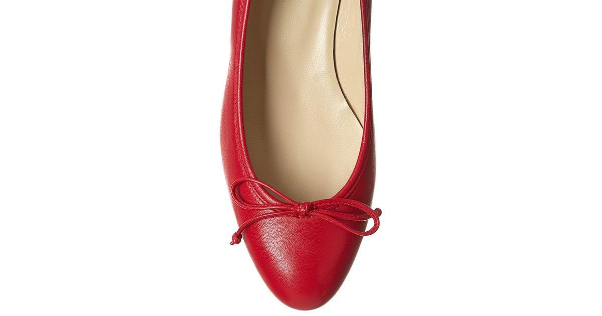 a7498275869 Hobbs Poppy Block Heel Ballerina Pumps in Red - Lyst