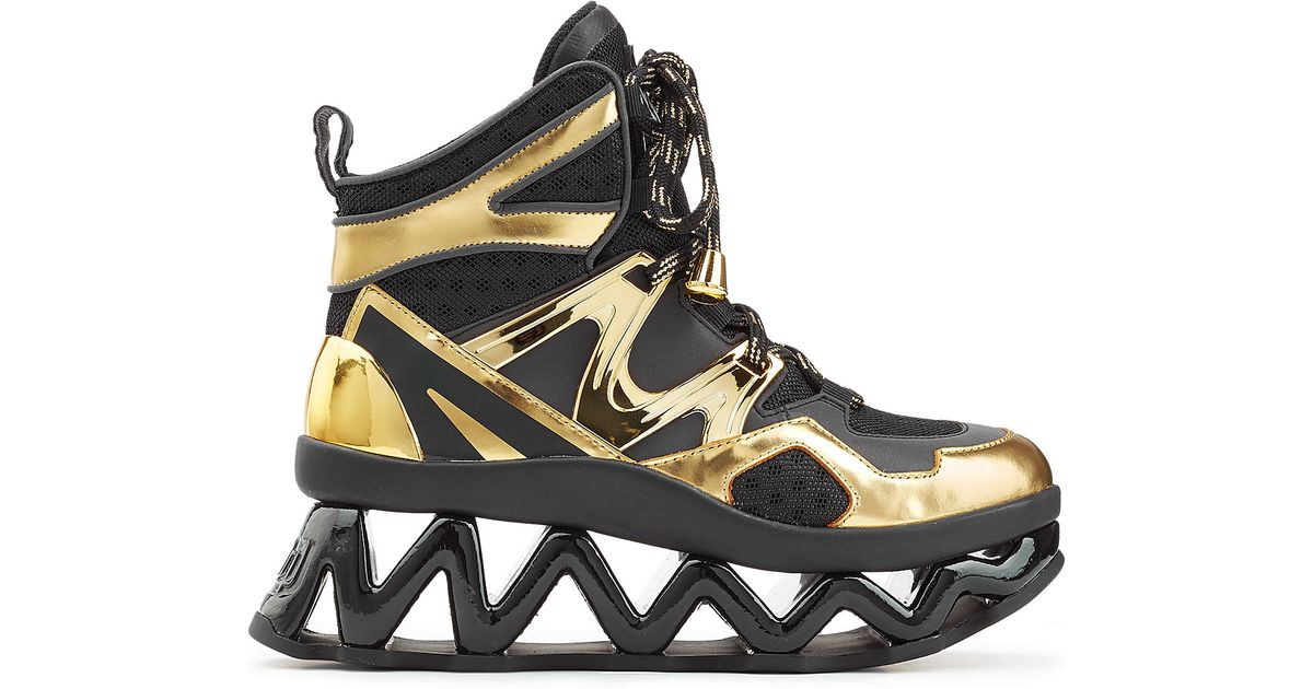0dcf962d4fb0 Marc By Marc Jacobs Ninja High Top Platform Sneakers - Gold in Metallic -  Lyst