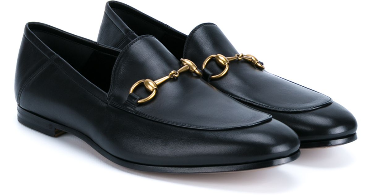 4e0079c64ad9 Gucci Horsebit Leather Loafers in Black for Men