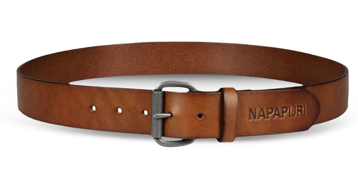napapijri belt in brown for lyst