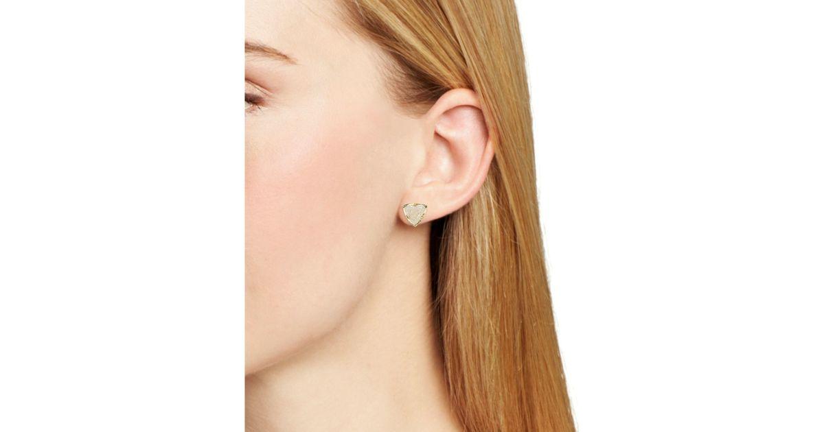 3303f6c6e Lyst Kendra Scott Parker Stud Earrings In Metallic. Kendra Scott Dira Stud  Earrings Silver ...