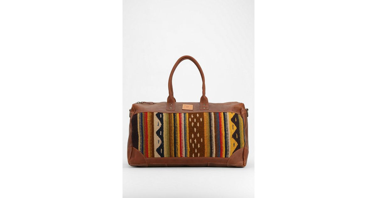 Lyst - Will Leather Goods Oaxacan Duffel Bag in Brown 561c433e63
