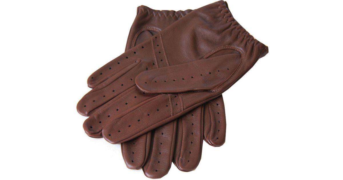 30e3276f893c3 Lyst - Black.co.uk Men s Cognac Leather Driving Gloves in Brown for Men