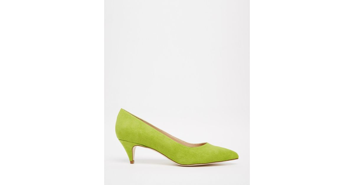 1b2495f5dccb Lyst - ASOS Sequence Pointed Heels in Green