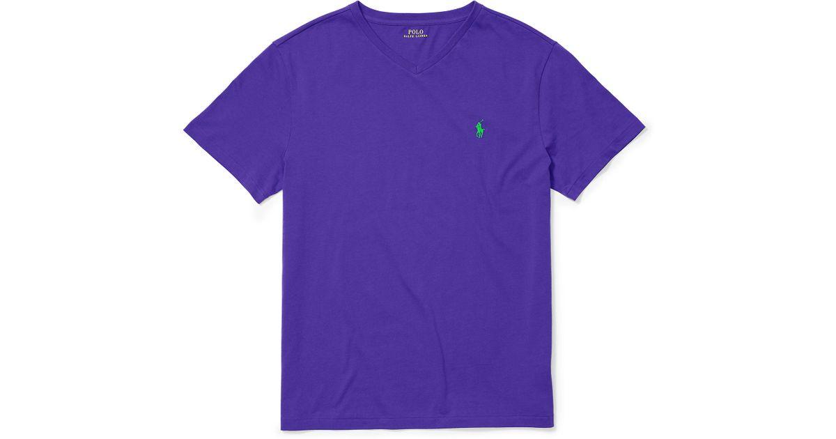 Lyst Polo Ralph Lauren Cotton Jersey V Neck T Shirt In