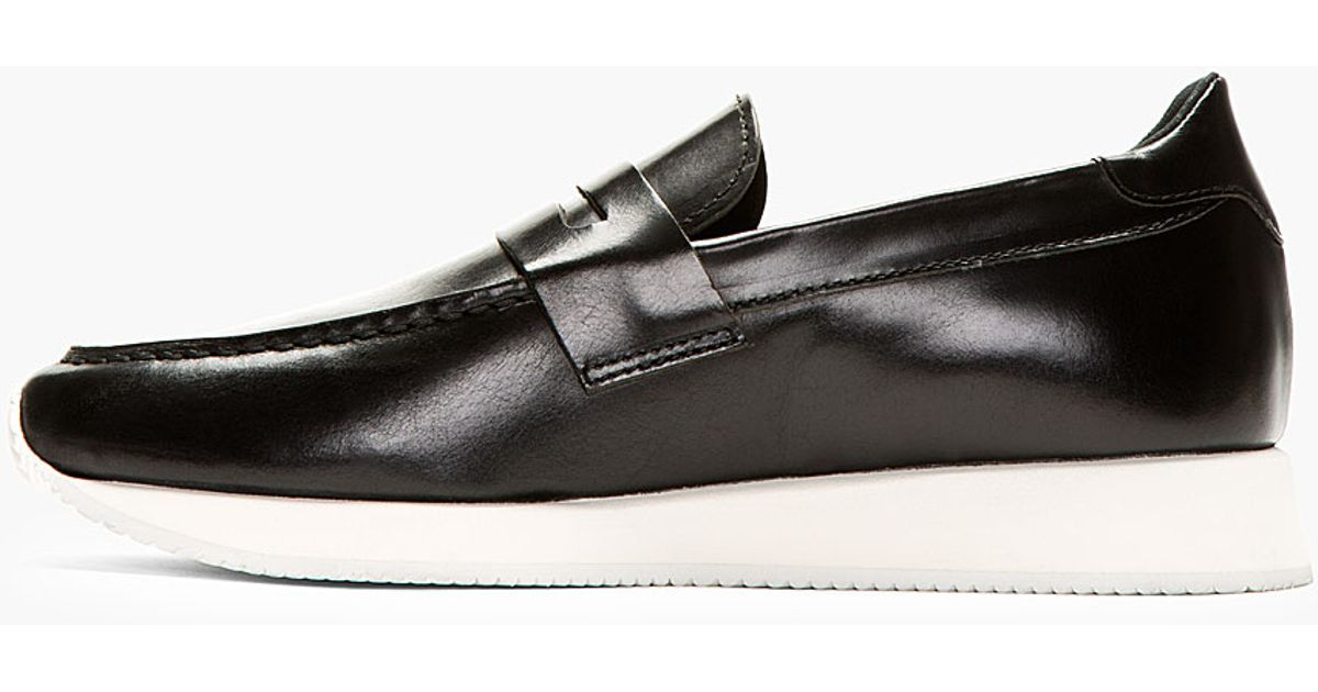8841b28ca5 Lyst - Kris Van Assche Black Leather Penny Loafers in Black for Men