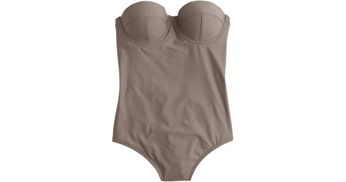 96f90267632a9 J.Crew Long Torso Underwire One-piece Swimsuit in Natural - Lyst