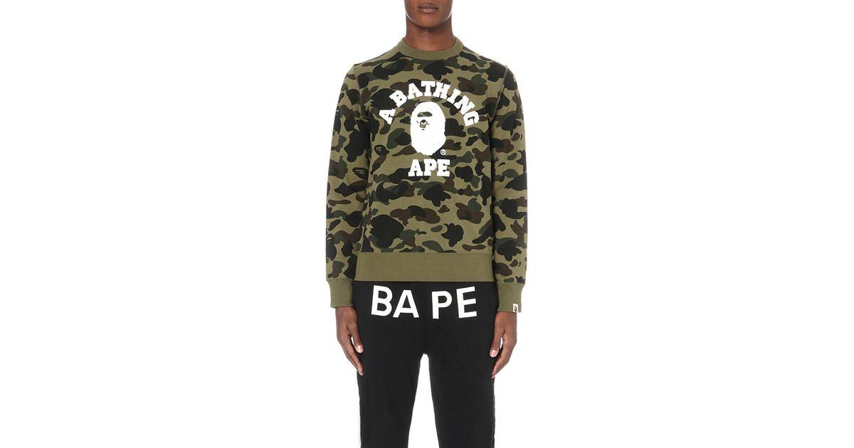 A Bathing Ape Camouflage-print Cotton-jersey Sweatshirt In