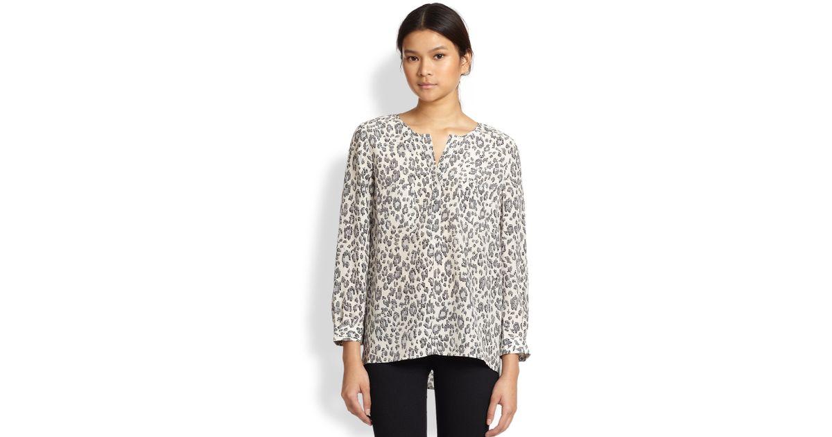 9e9ac0903cbdf8 Joie Nepal Leopardprint Silk Blouse - Lyst