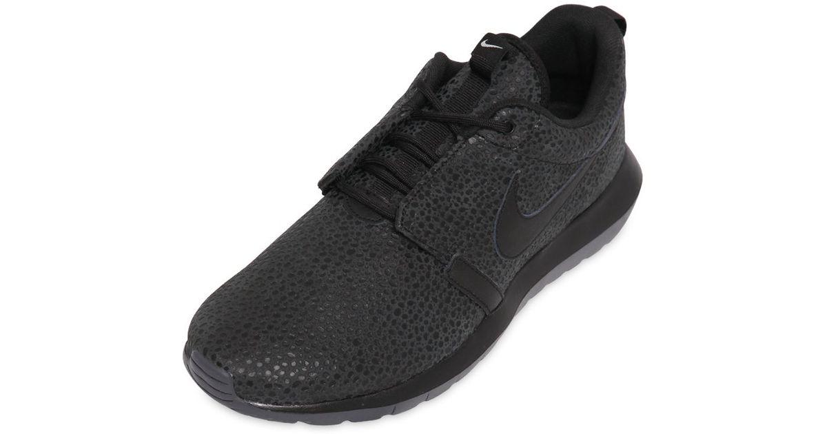 673e04d04a57 ... clearance lyst nike roshe run nm safari sneakers in black for men 353df  dead3