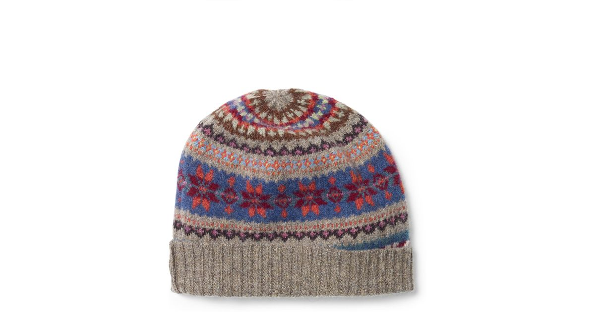 Lyst - Polo ralph lauren Fair Isle Wool Hat in Gray